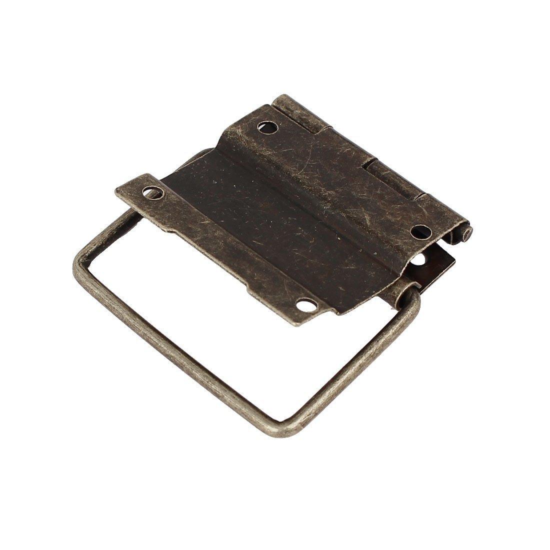 eDealMax Boîte Case Style rétro positionnement de Soutien Bronze Tone Hinges 8pcs 57mmx41mm