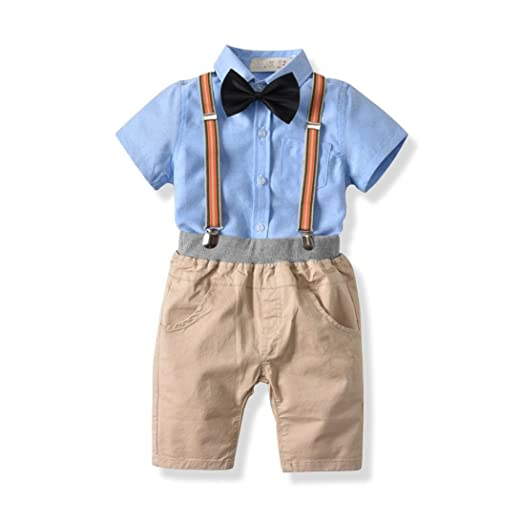 8619527733f6 Amazon.com: Scaling❤Fashion Baby Boy Outfits Bow Tie T Shirt Tops+ ...