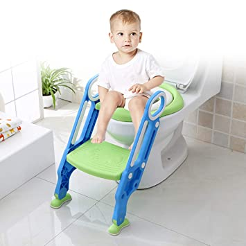 Incredible Potty Training Seat With Step Stool Ladder Toddler Toilet Seat Adjustable Baby Toilet Trainer Seat Potty Training Non Slip Pedal And Soft Spiritservingveterans Wood Chair Design Ideas Spiritservingveteransorg