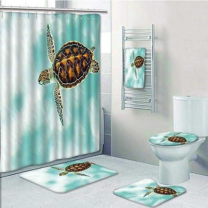 Amazon Com Prunus Designer Bath Polyester 5 Piece Bathroom
