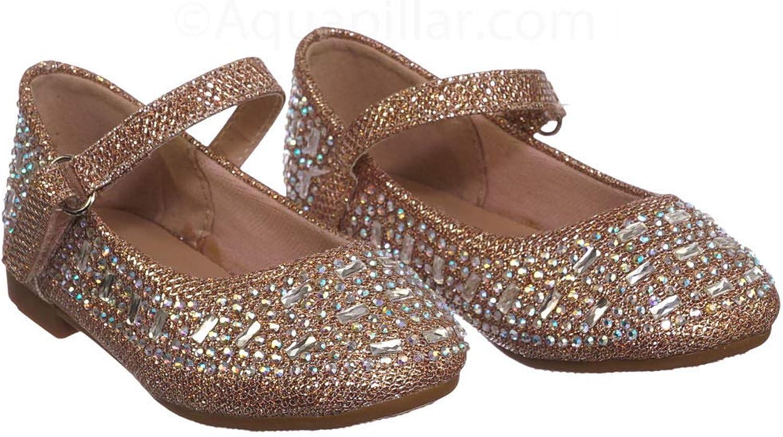 Kids Bling Crystal Glitter Shoes Aquapillar Baby Toddler Ballet Rhinestone Flats