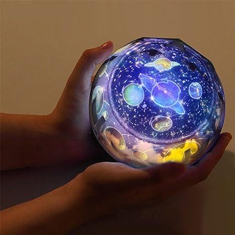 Proyector de luz nocturna estrellada de rotación del sueño, luz ...