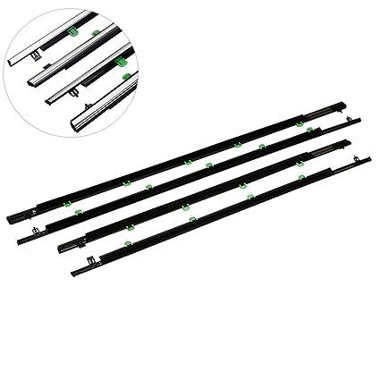 TC-Home Outer Window Sweep-Belt Moulding Weatherstrip Set of 4 for Honda  CR-V 07-11