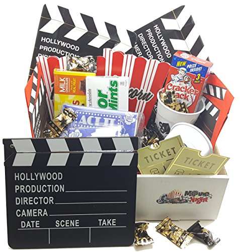 Ultimate Movie Night Gift Basket/Box with 2 Red Box Movies & filled with Snacks & Movie  ...
