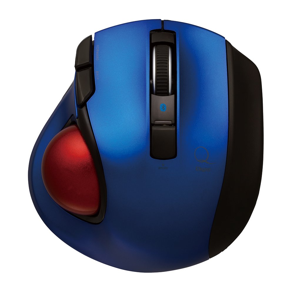 Nakabayashi Co,Ltd. Digio2 Bluetooth Wireless Trackball for Window PC and Mac and Android (Blue)
