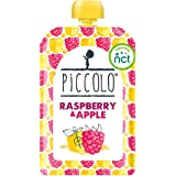 Piccolo Organic - Raspberry and Apple Puree - Stage 1 Baby Food, 100 g (Pack of 5)