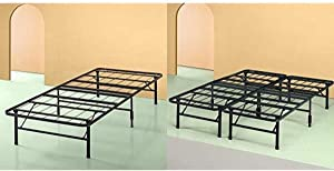 Zinus Shawn 14 Inch SmartBase Mattress Foundation/Platform Bed Frame/Box Spring Replacement/Maximum Under-Bed Storage, Twin and Foundation,Bed Frame,Box Spring Replacement Full