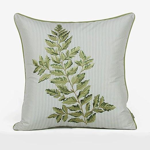 WXH Cojines Bordados Almohada Verde Bordado cojín sofá ...