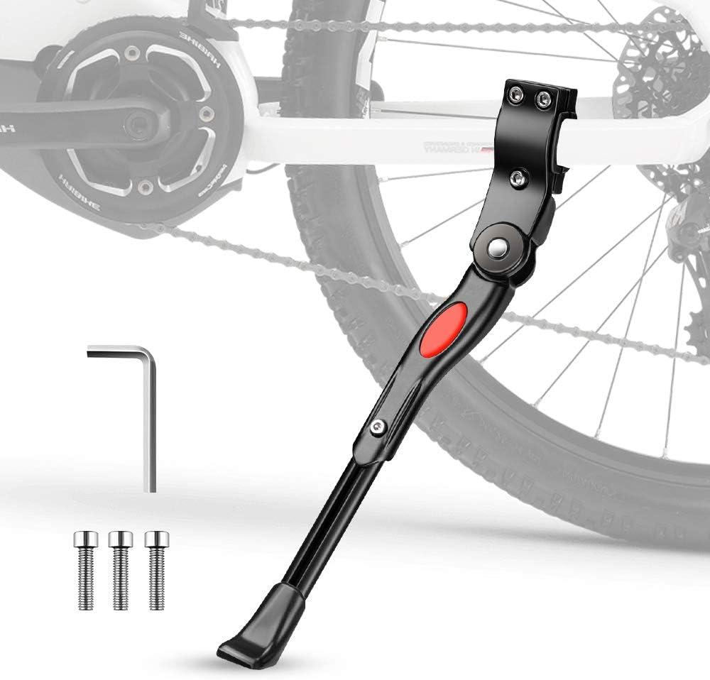Pata de Cabra para Bicicleta, phixilin Aluminio Soporte Ajustable Bicicleta Kickstands Bicicleta Caballete Lateral Se Adapta a 24