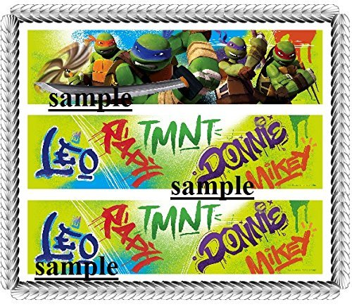 New Ninja Turtle 2016 Designer Strips Edible Cake Border ...