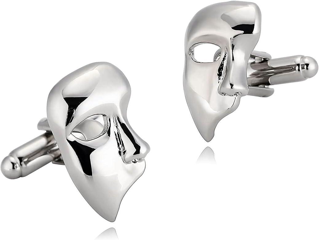 Blisfille Gemelos 2 Pieces Gemelos Originales Hombre Gemelo Acero Inoxidable,Máscara Gemelos Camisa Hombre Plata: Amazon.es: Joyería