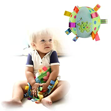 Baby Security Blanket with Tags Ball Plush Comforter Toy,Greate Baby Shower Gift