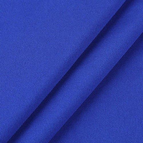 Hauts Courtes Manches Bleu paule Strappy Jaminy Femmes Froide d't T Shirt Blouses q7zFwgT