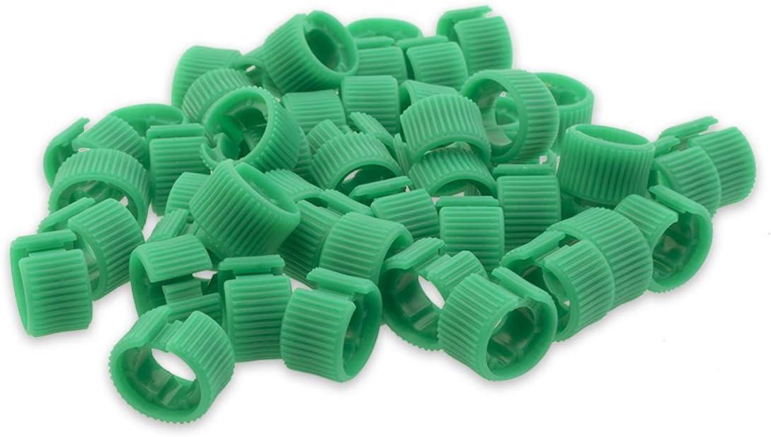 Cat7 26AWG Identificatore di cavo Anelli colorati Confezione da 50 LINKUP Verde