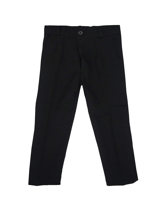 Pantaloni Neri per Bambini//Ragazzi Black /& White Single