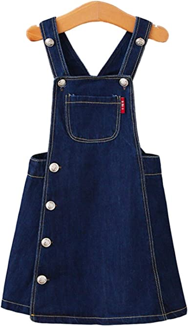 Adam Woolf 6m-4T Summer Baby Girls Clothes Kids Overalls Bib Tutu Skirt Denim Lace Dress Kawaii