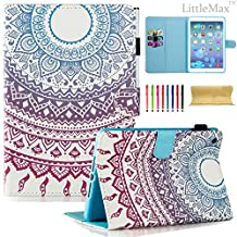 iPad Mini Case - LittleMax(TM) Smart Auto Wake/Sleep Stand Case [Magnet Closure] Flip Folio Wallet Case Cover for iPad Mini 3/2/1 [Free Cleaning Cloth,Stylus Pen]-#4 Mandala Circle