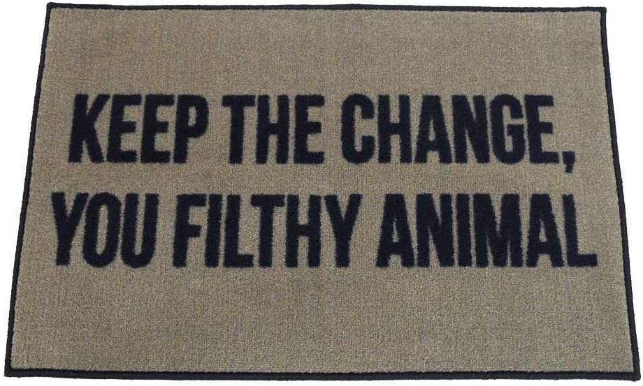 FloorMatShop Home Alone Keep The Change You Filthy Animal Novelty Carpet Nylon Indoor Welcome Entrance Mat Approx. 2' x 3' Surged Edge Made in The USA