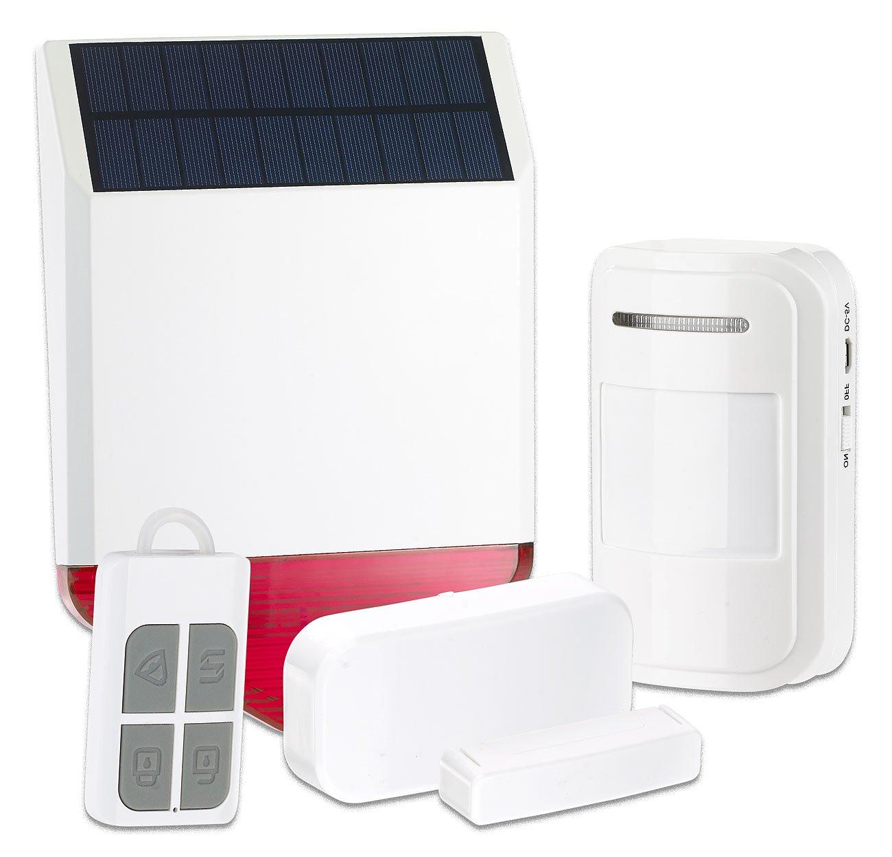 VisorTech Solar-Funk-Alarmalage XMD-4400.easy, 110 dB, 5-teiliges Starter-Set