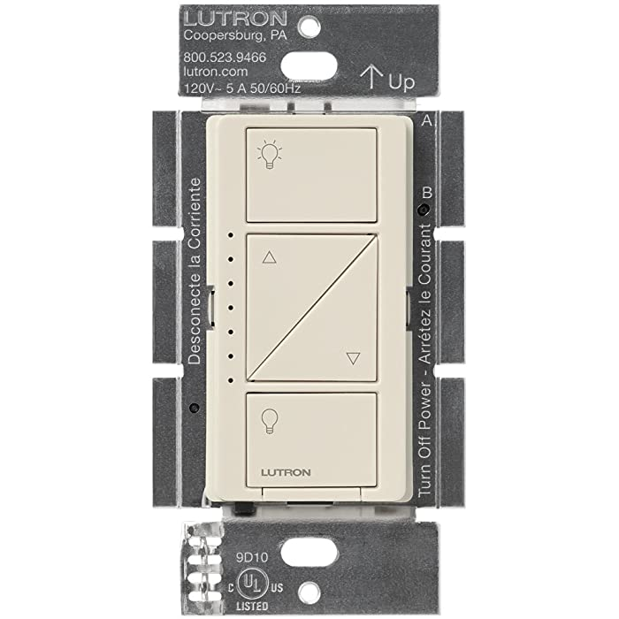 Lutron Caseta Wireless Smart Lighting Dimmer Switch for Wall & Ceiling Lights, PD-6WCL-BL, Light Almond, Works with Alexa, Apple HomeKit, and the Google Assistant