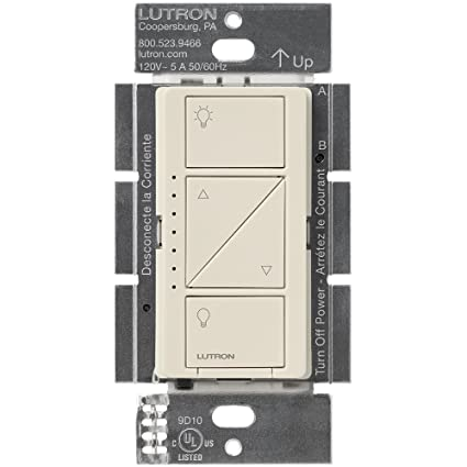 Lutron Caseta Wireless Smart Lighting Dimmer Switch for Wall & Ceiling  Lights, PD-6WCL-BL, Light Almond, Works with Alexa, Apple HomeKit, and the