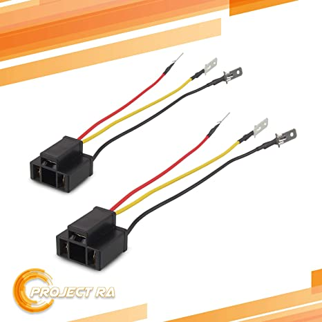 2pcs H4 9003 HB2 Wire Wiring Harness Sockets for 4