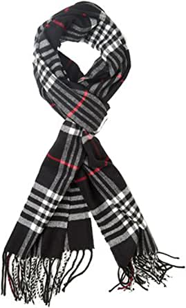 Classic Luxurious Soft Cashmere Feel Unisex Winter Scarf in Checks and Plaid