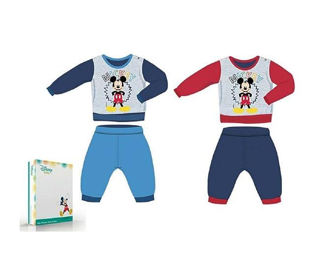 Mickey Mouse - Pijama dos piezas - para niño COLORE : BLU 12 meses