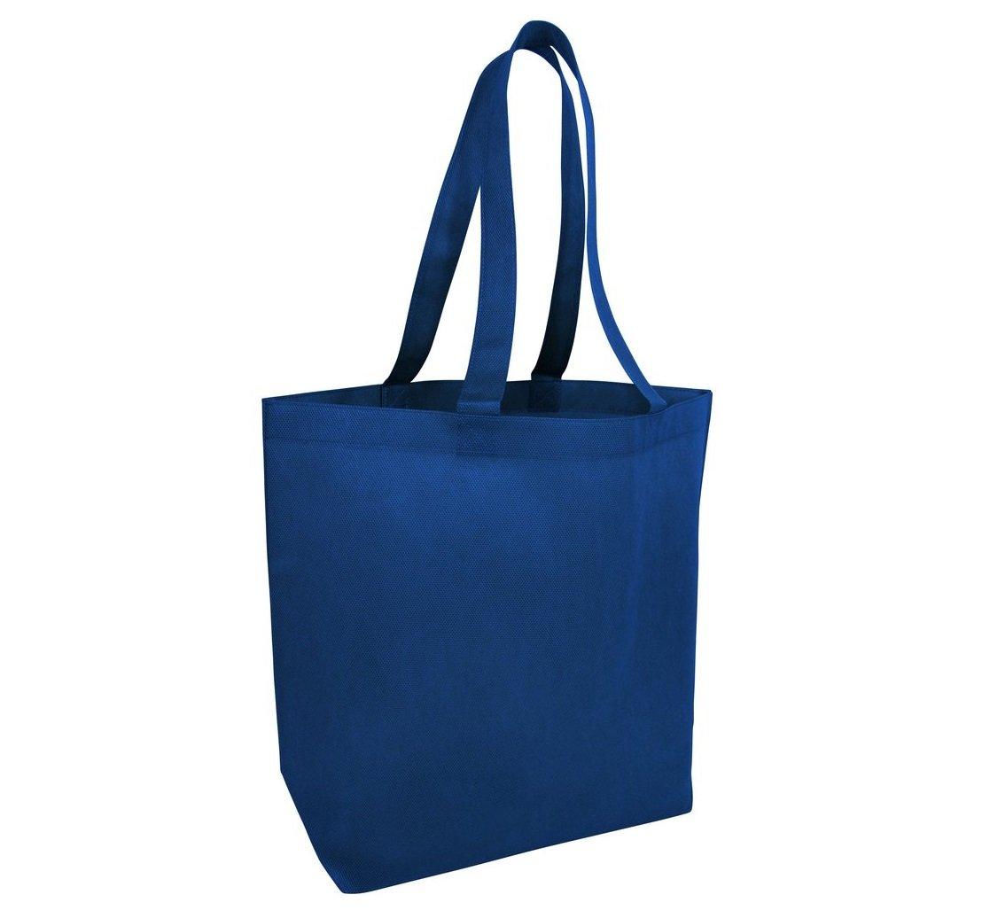 注文割引 shopinusa Buyバルク( ブルー 24パック)。最低価格Promotionalジャンボトートバッグwith Bottom ロイヤル 24パック) Gusset ( 18