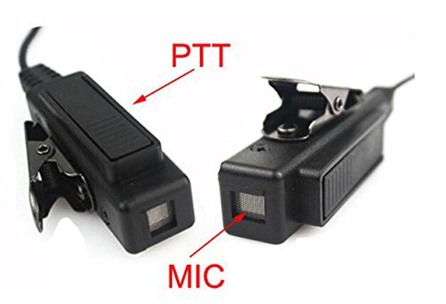 FANVERIM Covert Acoustic Tube Earpiece Headset Mic Compatible For Motorola XIR P6600 XIR P6620 XPR3300 XPR3500 E8600 E8608 Two-Way Radio DZMIDGP660