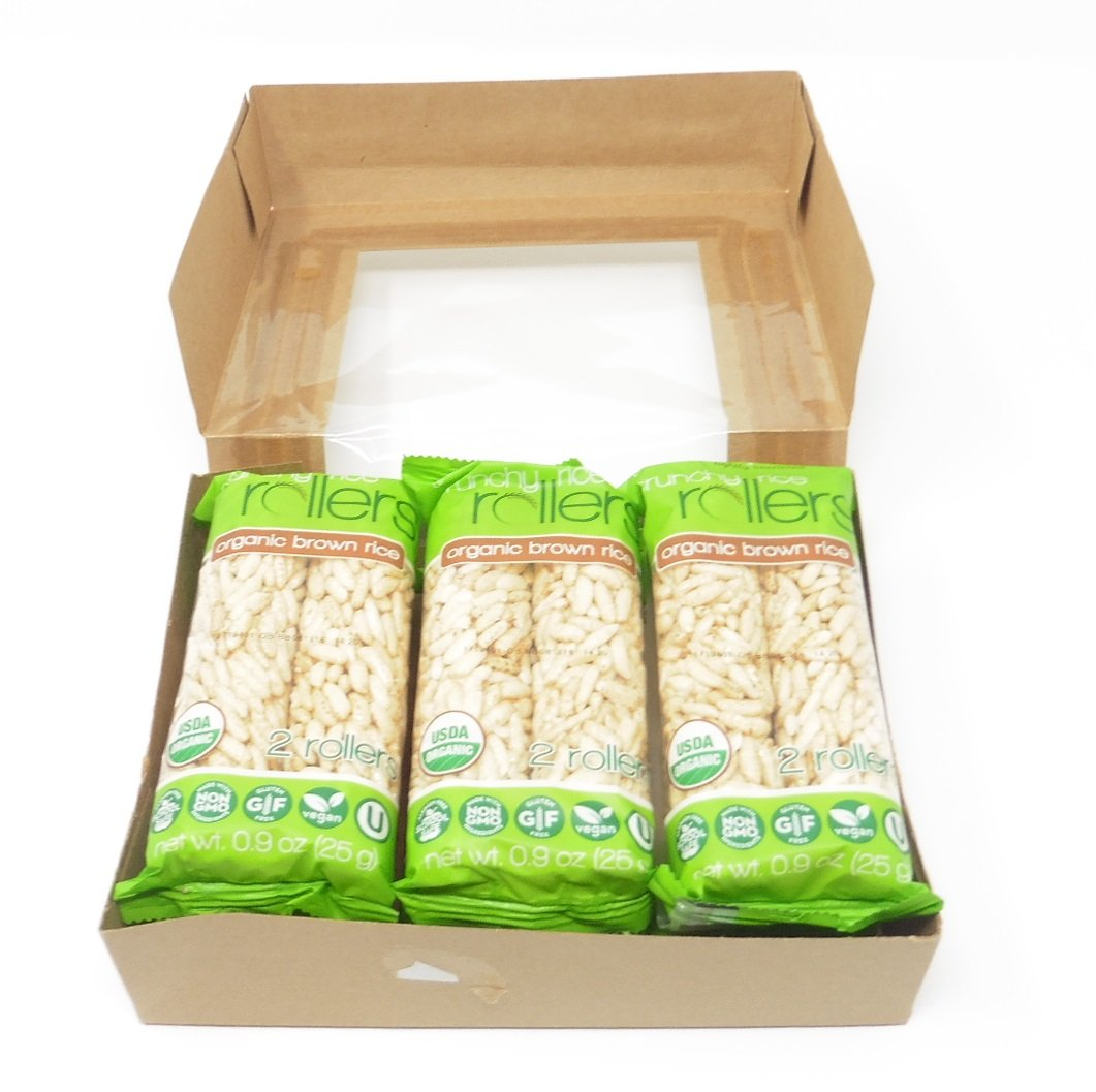 Organic Brown Crunchy Rice Rollers Delicious Snack Non GMO, Gluten Free 6 Packs (Total 12 pieces) by Bamboo Lane