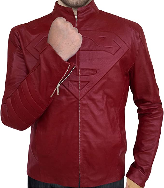 Tom Welling Smallville Jacket in Red Leather