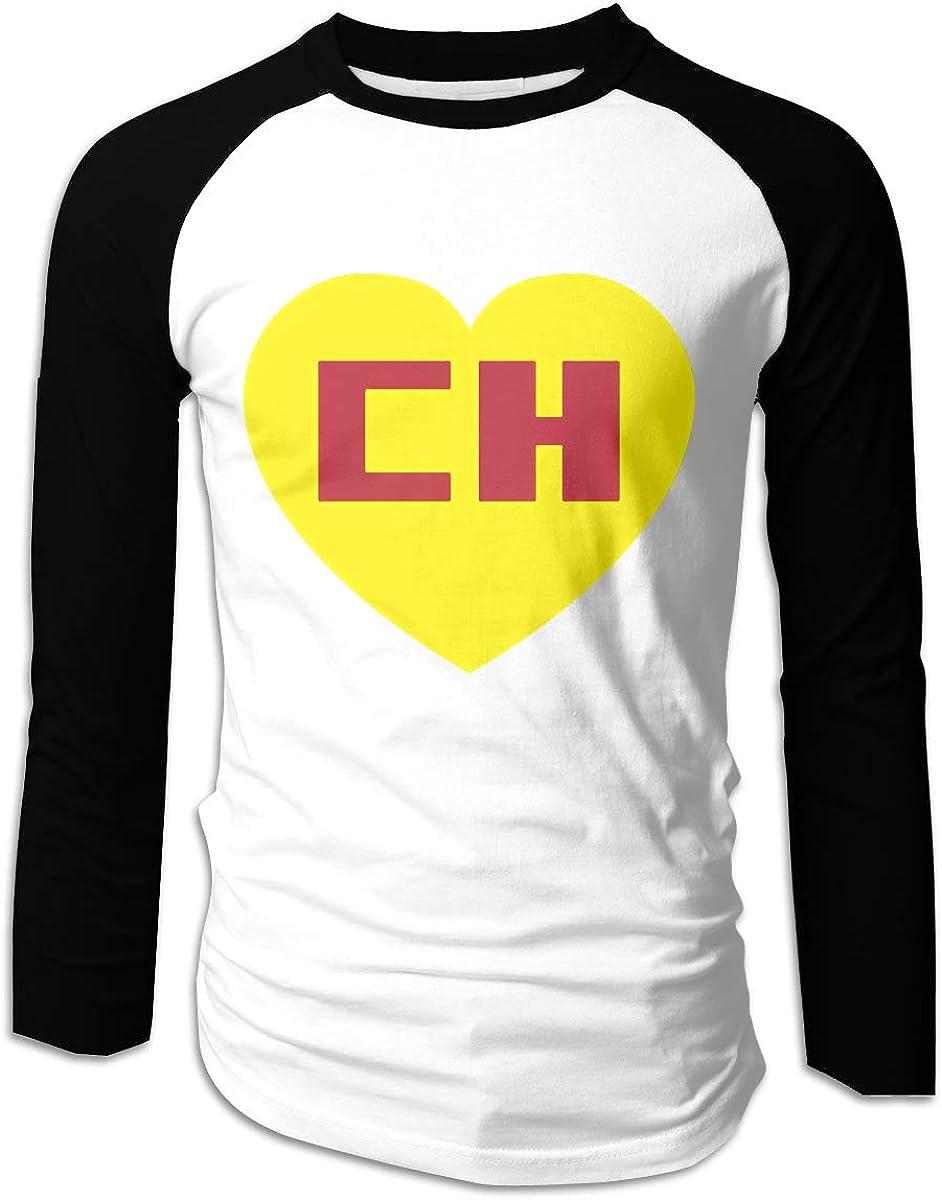 TammyRLewis Chapulin Colorado Camisetas de béisbol de Manga Larga Informales para Hombre, Color Negro - Negro - Large: Amazon.es: Ropa y accesorios