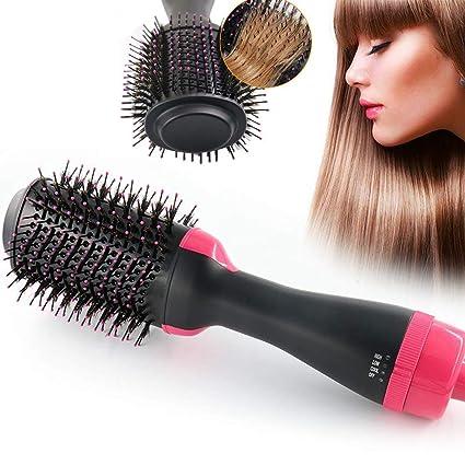 Cepillo de aire caliente Peine caliente Secador de pelo de iones ...