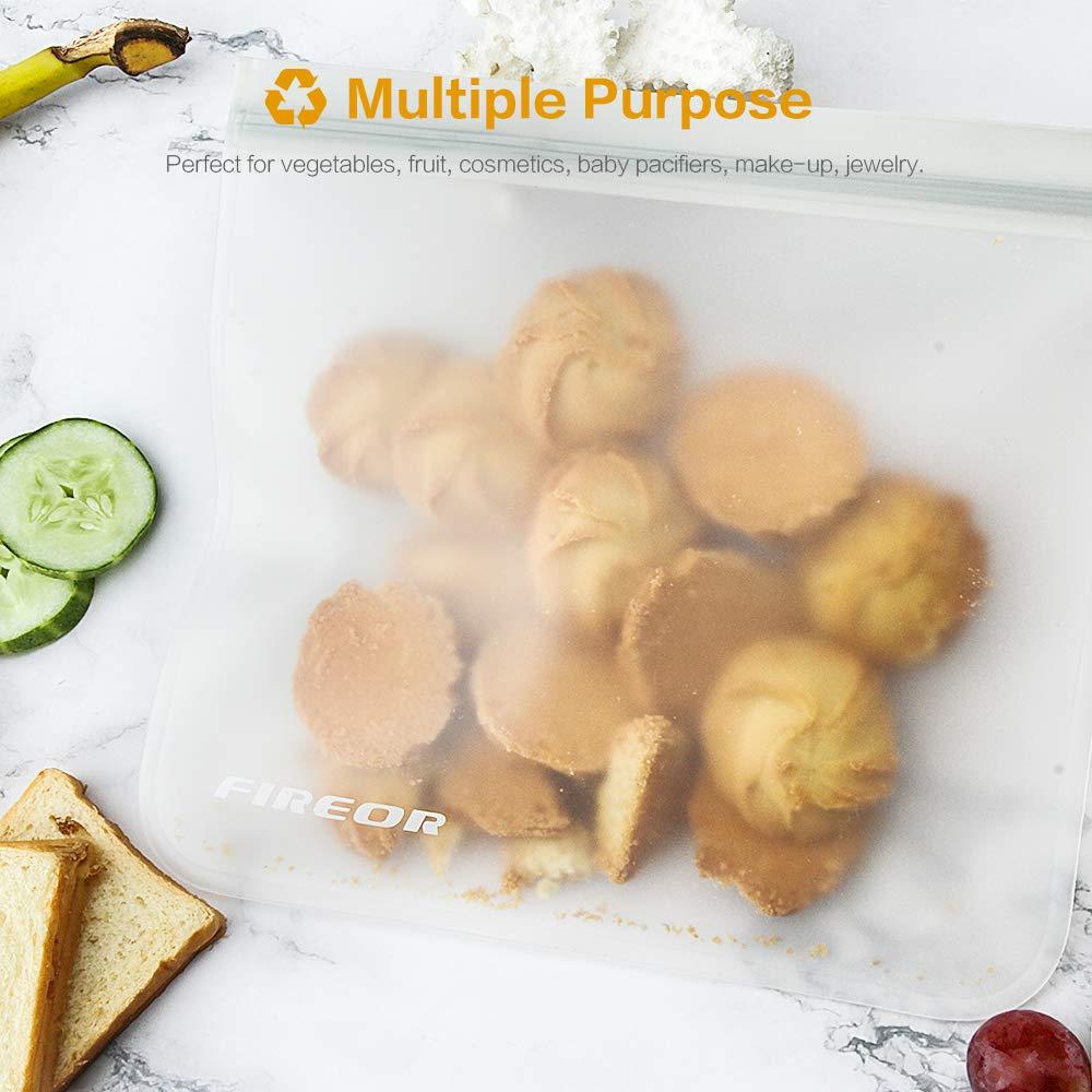 Amazon.com: Fireor - Bolsas reutilizables para sándwiches, 5 ...