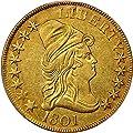 1801 P $10 Early Gold (1795-1804) Ten Dollar AU50 PCGS