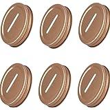 HinLot Pack of 6 Colored Coin Slot Lids for Regular Mouth Mason Jars & Piggy Banks (Rose Gold)