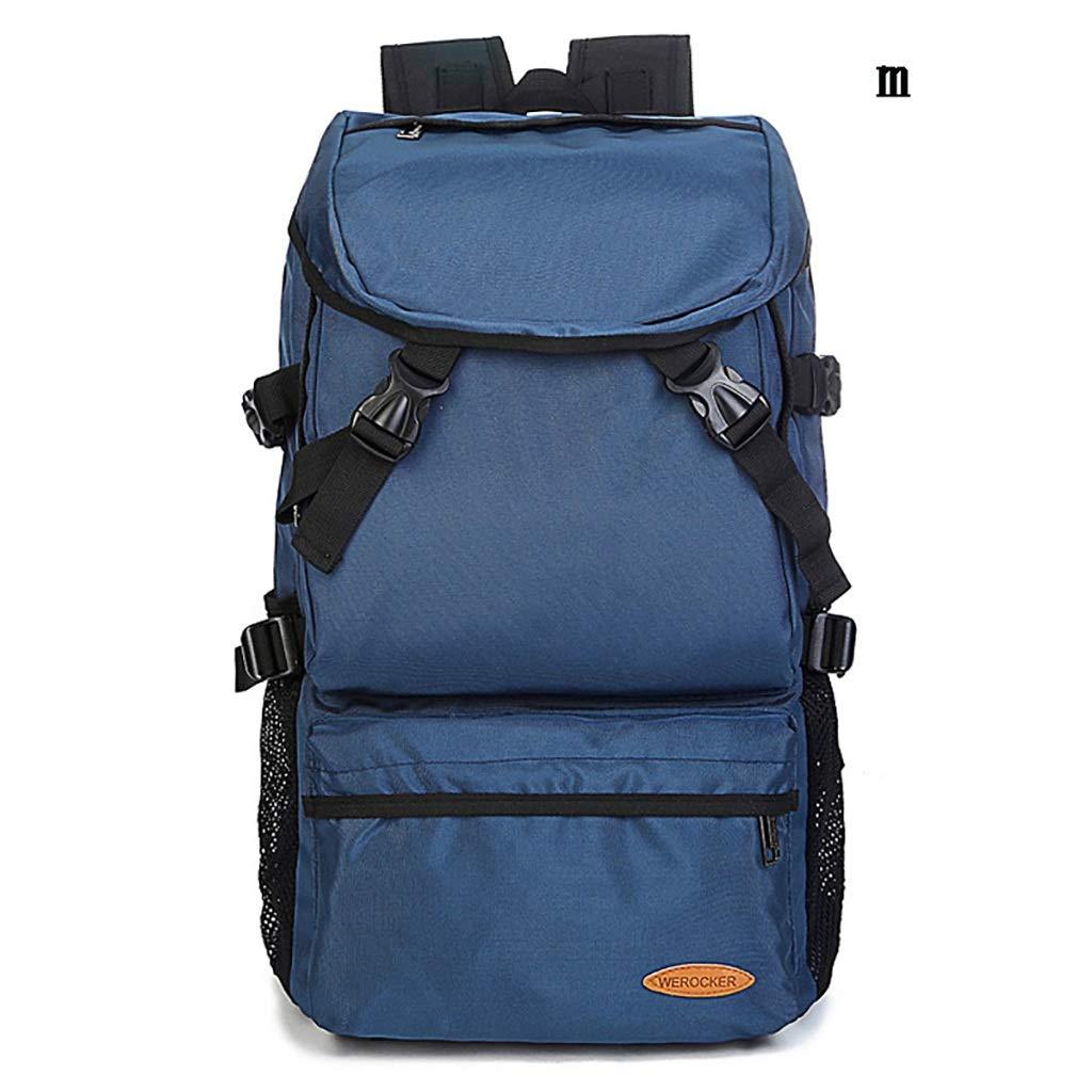 アルパインパック バックパックアウトドアスポーツ登山バッグスポーツバックパックユニセックス防水トラベルバックパックマルチファンクション (色 : 青, サイズ さいず : M) Medium 青 B07HDZ94JY