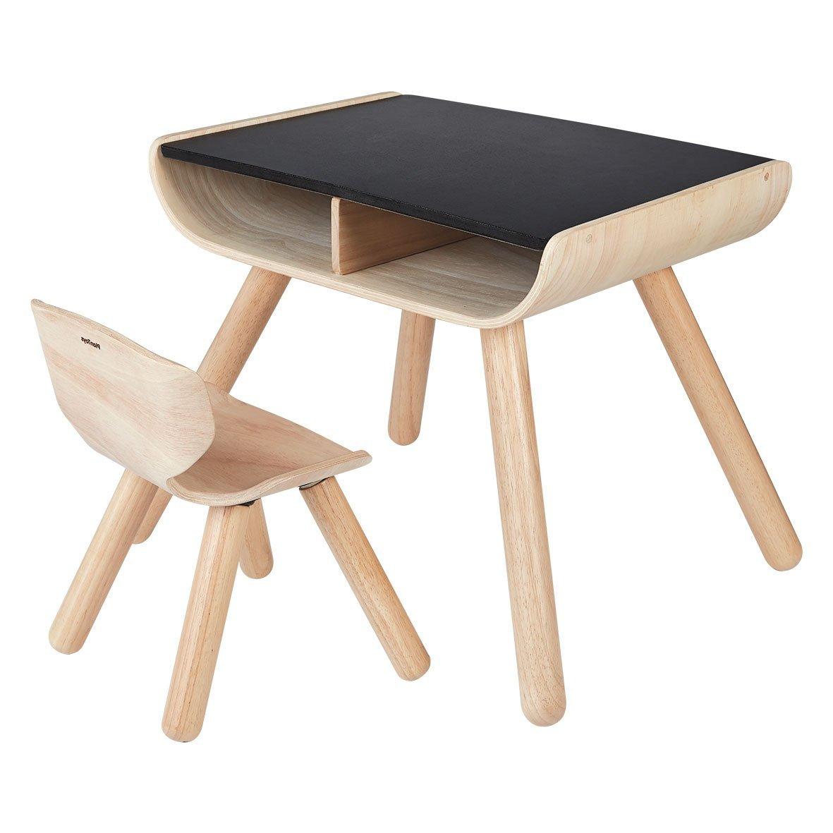 PLANTOYS テーブル&チェア 8700 B01D8Y8CMM ブラック  ブラック, 石雑貨ピュアストーン 1eb2da3b