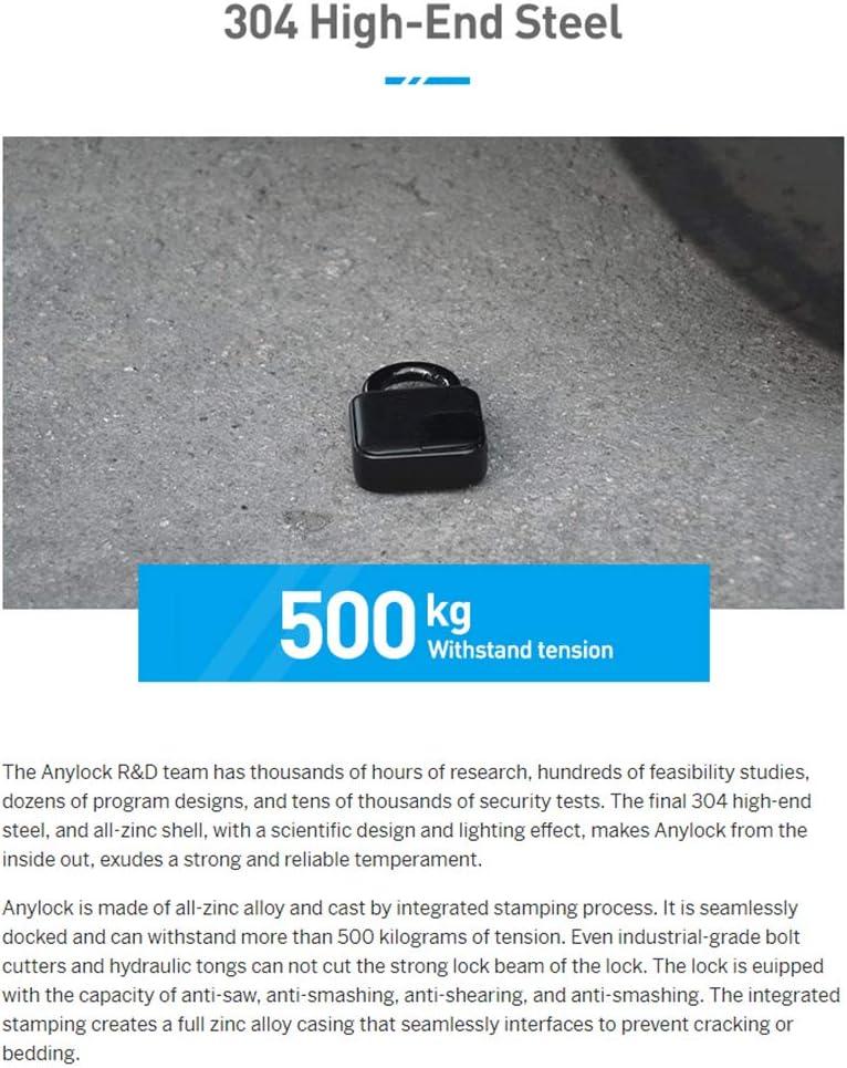 IP 66 /étanche et Rechargeable 10 Empreintes digitales Lionina Cadenas Smart Fingerprint Multifonction Anti-vol avec Fonction Alarme pour lint/érieur et lext/érieur