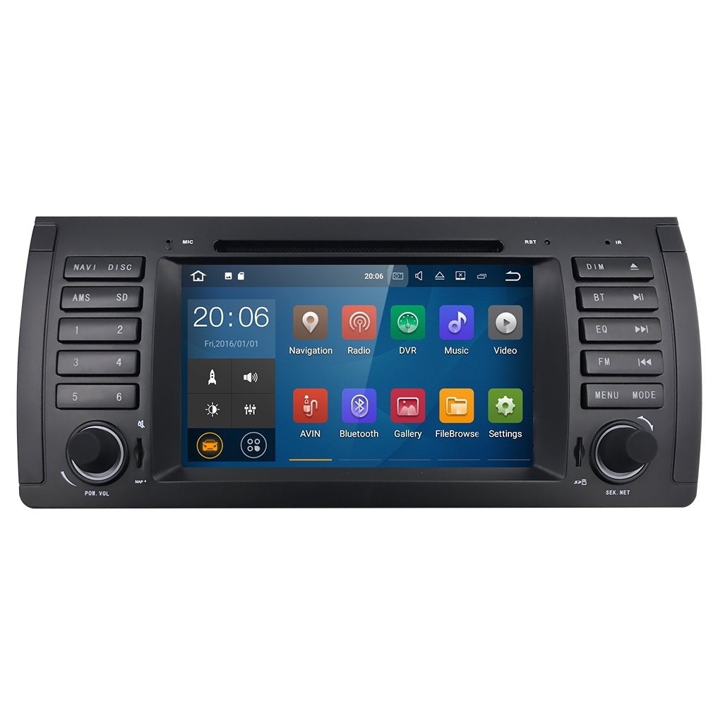 Android 7.1 Car GPS Navigation for BMW E39 E38 M5 X5 5 Series HIZPO in Dash Radio DVD Player support 4G/WiFi/OBD2/DAB+/DTV/TPMS