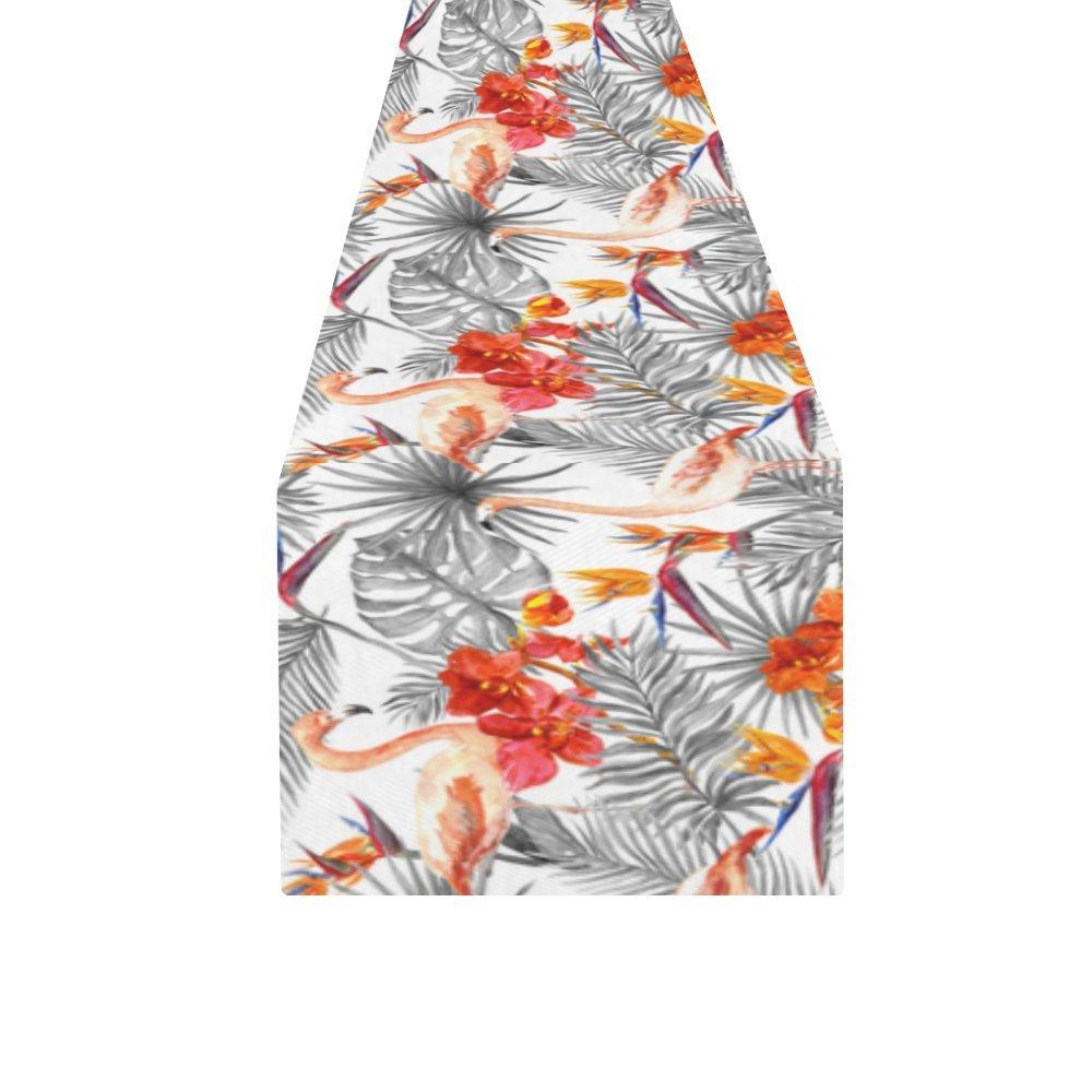Kess InHouse Julia Grifol Summer Tropical Leaves Green Orange Decorative Door 2 x 3 Floor Mat