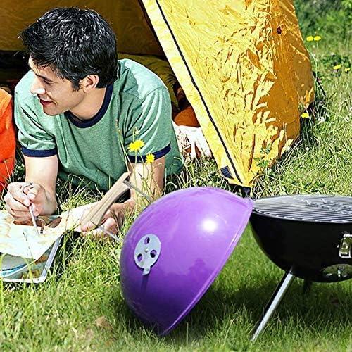 BJYG Outdoor Charcoal 3-7 Persone Multifunzione Portatile Amici della Famiglia Campeggio all'aperto Giardino da Picnic Giardino Viola