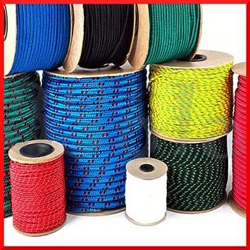 SOLA Cuerda de polipropileno trenzada de 3 mm de cuerda de poliéster línea de vela, navegación, camping, escalada yachting