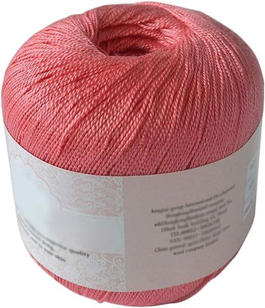Hilo de algodón mercerizado para bordar, ganchillo, para tejer ...