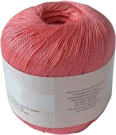 Hilo de algodón mercerizado para bordar, ganchillo, para tejer, joyería de encaje. - geshiglobal. 04#: Amazon.es: Hogar