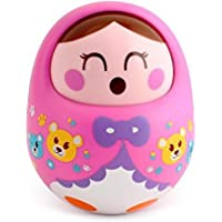 Webby Push and Shake Wobbling Bell Sounds Roly Poly Tumbler Doll,Assorted