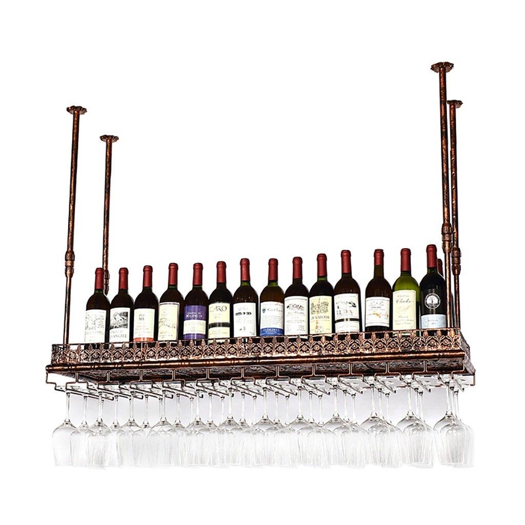 ワイングラスラック、サスペンションクリエイティブワインラック、アイアンレッドワイングラスフレーム、バー家庭用ワインカップホルダー B07GBP1JZC 80*35cm  80*35cm