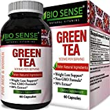 Green Tea Pills Stomach Fat Burner All Natural Weight Loss Men and Women Boost Metabolism Heart Health Supplements Detox Cleanse Pure Green Tea Leaf Extract Energy Booster Antioxidant Review