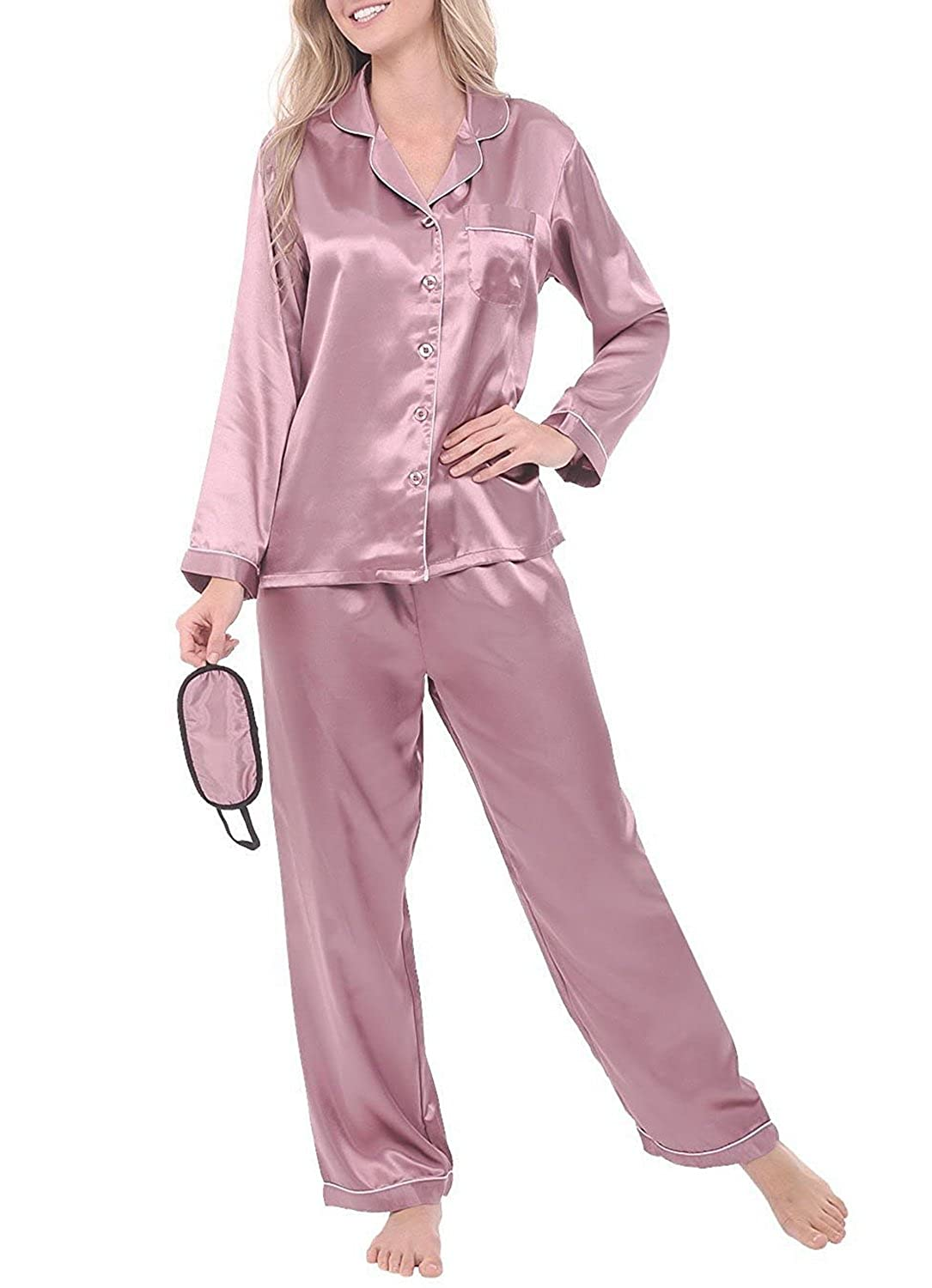 Amazon.com  Aliceloyhl Women s Satin Pajamas a9be7bc81
